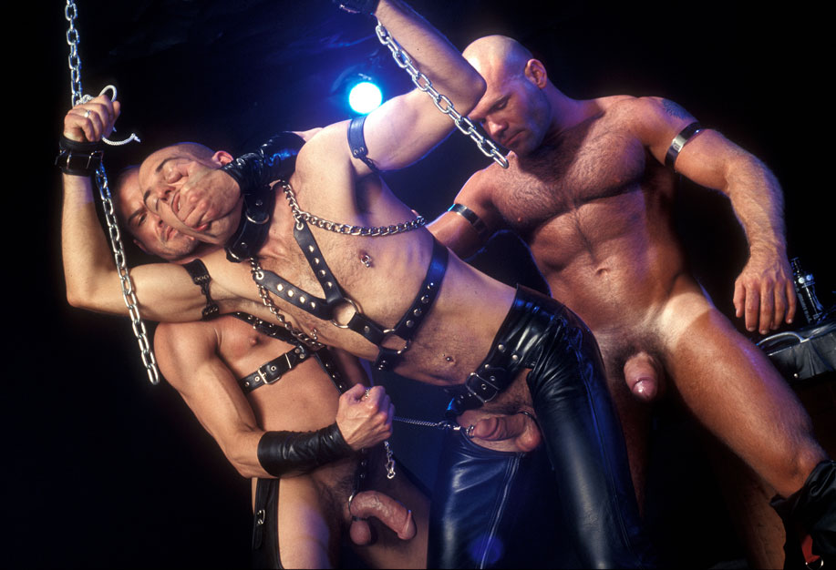 Titan Men gay leather bondage fucking and fisting
