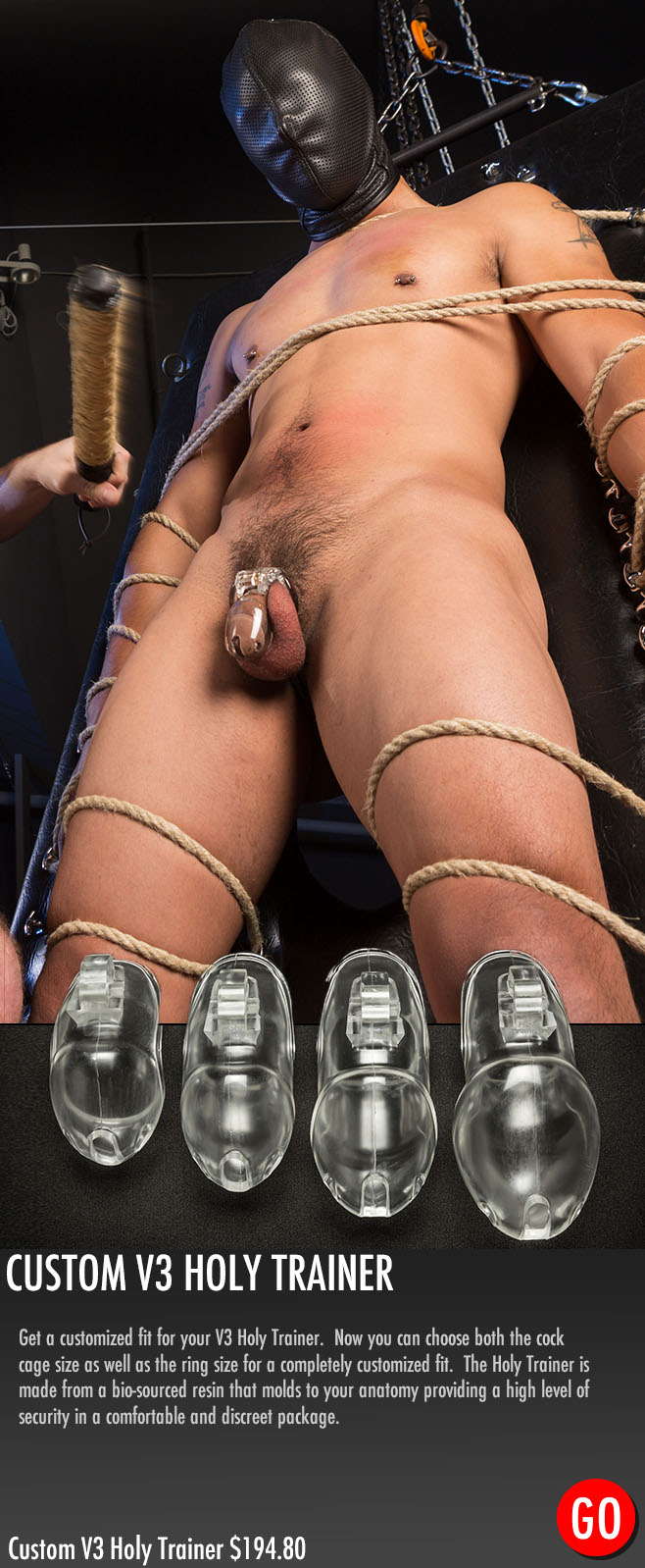 male chastity devices in custom sizes
