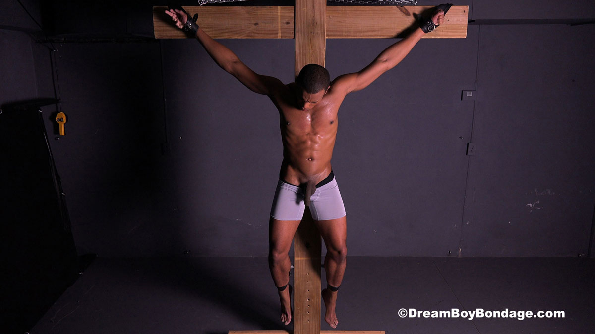 male bondage crucified