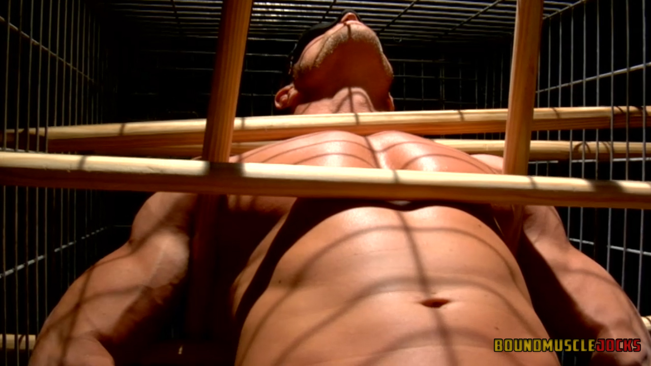 Tyler Saint gets a dumbbell hung from his balls