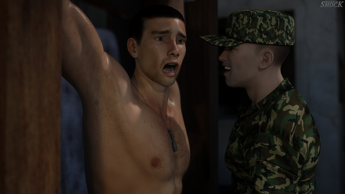 Military POW-style torture porn