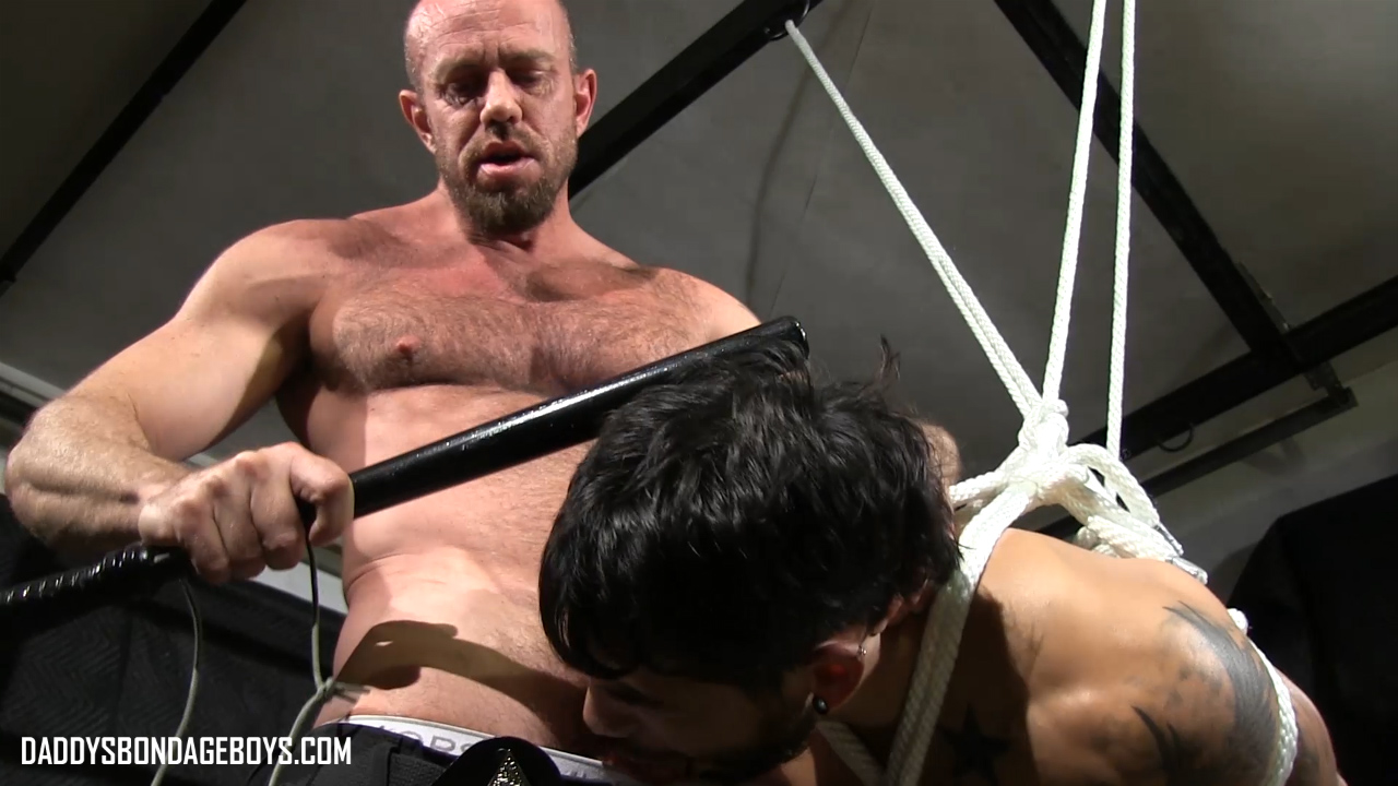 Matt Stevens shows Draven Torres how to suck cop cock