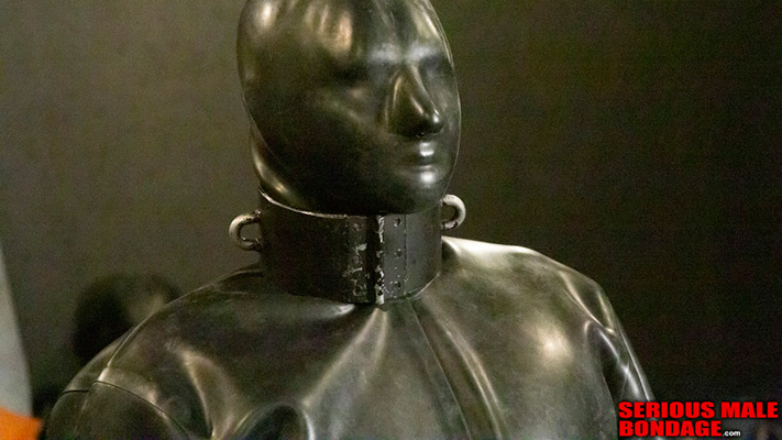 Heavy metal collar on a rubber prisoner
