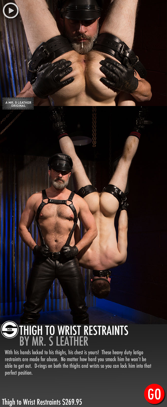 Kristofer Weston leather bondage