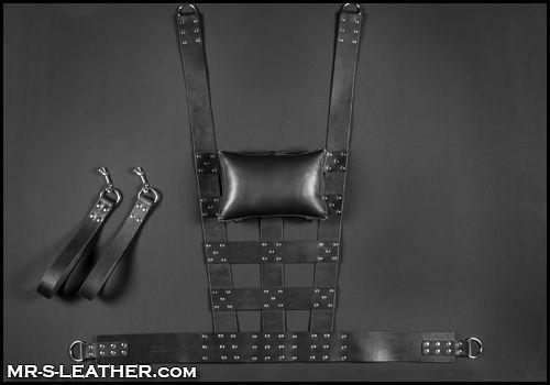webbed leather fuck sling