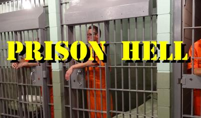 locked in a jail cell