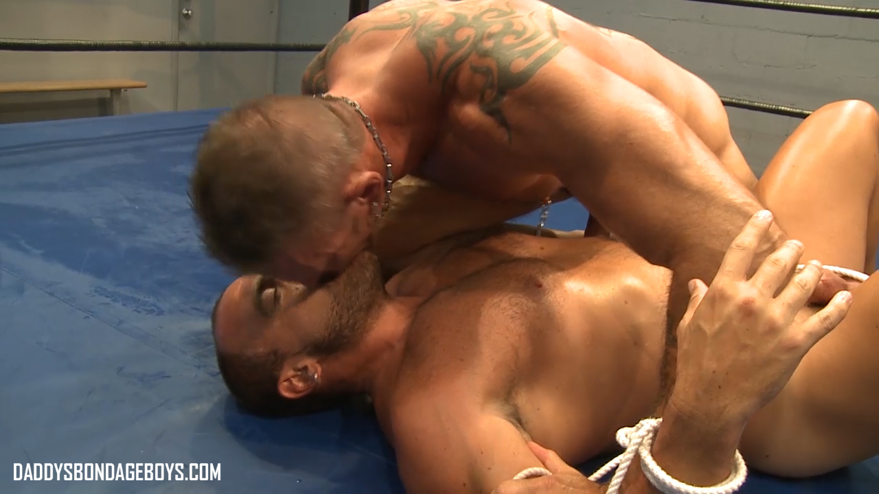 male bondage Colin Steele and Jessie Balboa wrestle