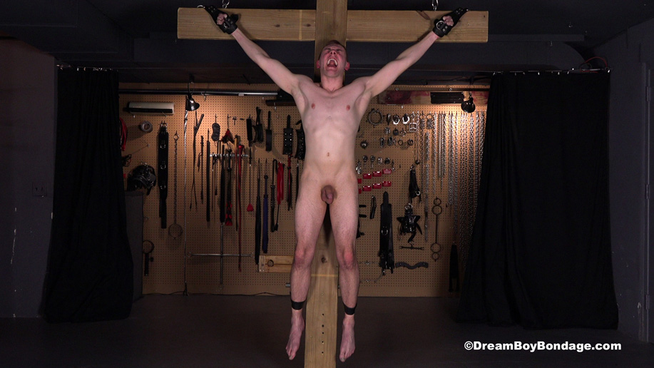 In one-hour he will be jerked off – and if he doesn't cum he'll spend not seven but nine hours on the cross