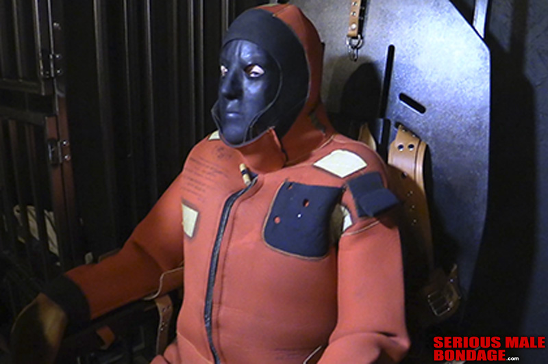 male bondage in many layers of gear