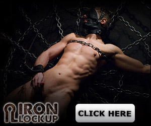 discount code on Iron Lockup male bondage