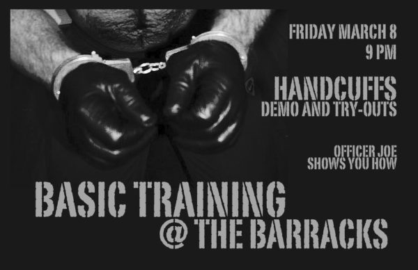 Handcuff demo at the barracks