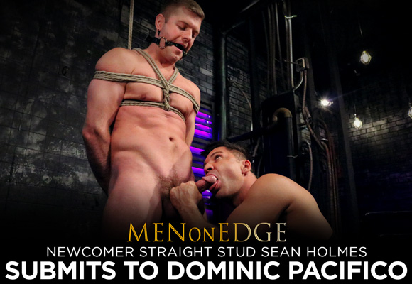 Captive surfer Sean Holmes submits to Master Dominic Pacifico