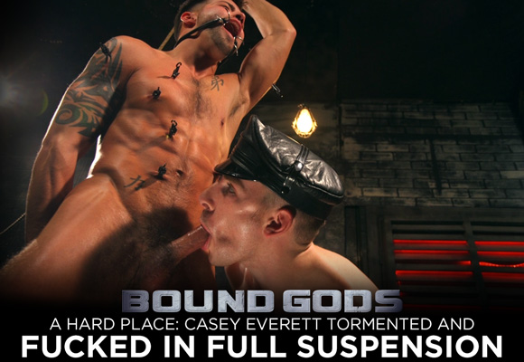 Casey Everett and Sebastian Keys male bondage