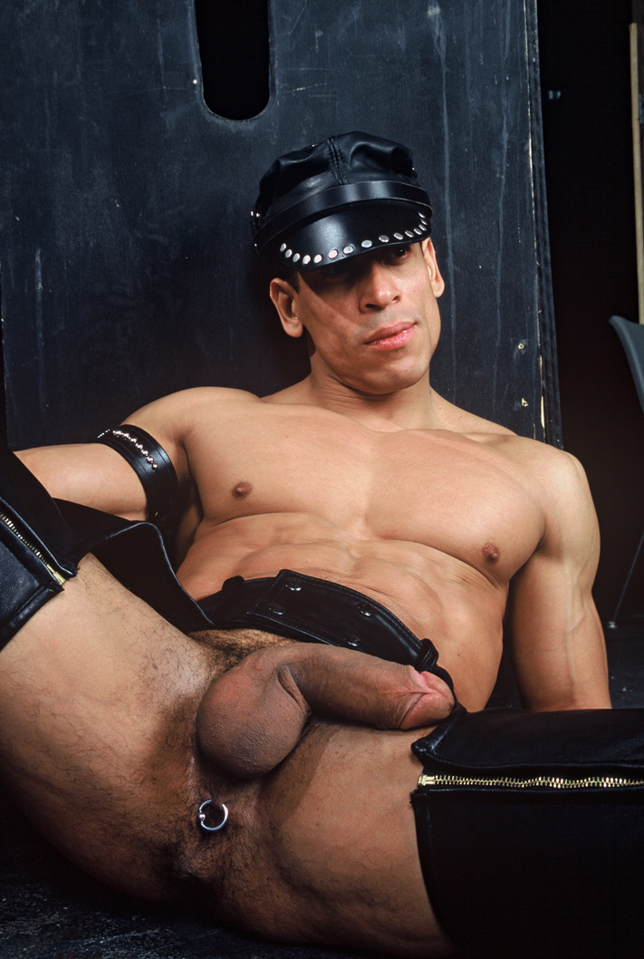 Leather man max hilton has something to show you