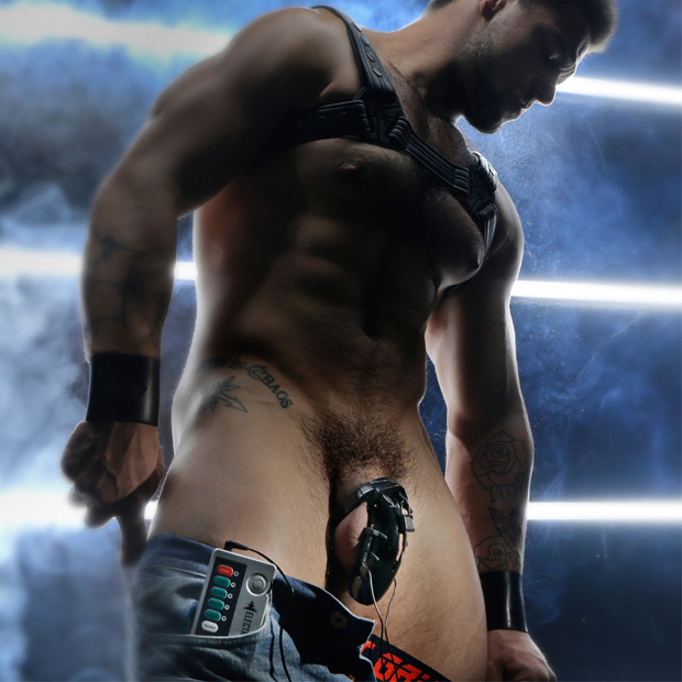gay chastity electro cock cage