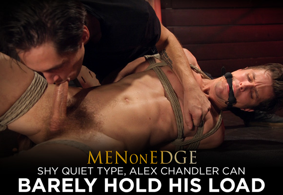 Alex Chandler is a tall, lean, quiet guy who is focused on his rock-hard cock