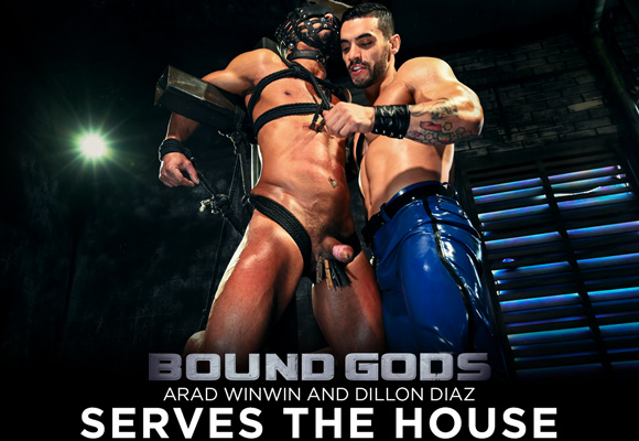 male bdsm Dillon Diaz submits to Arad Winwin