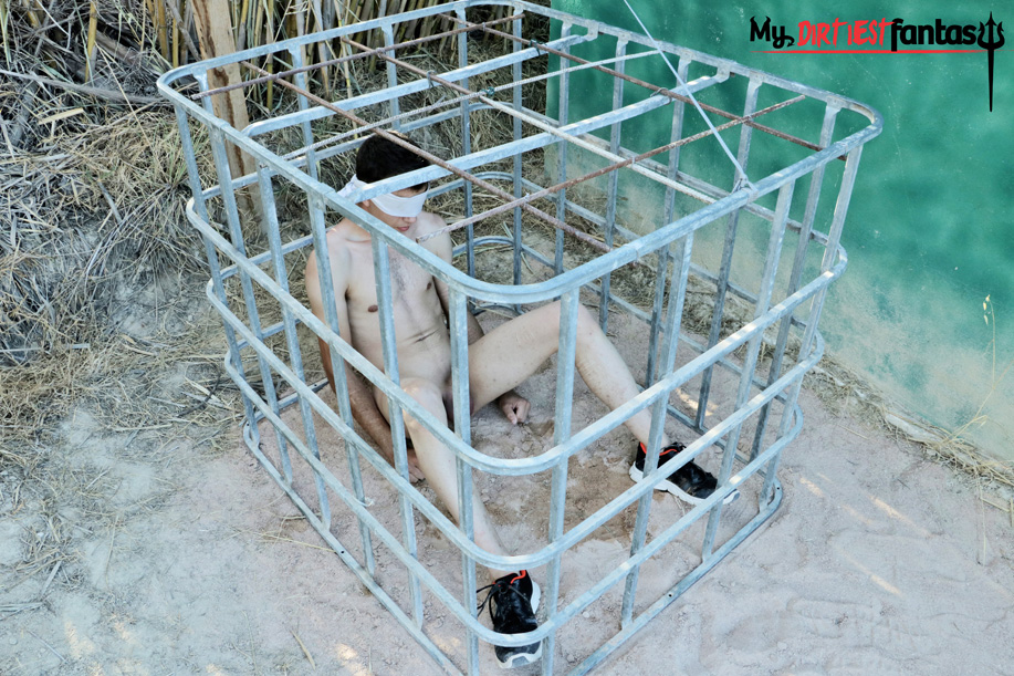 Abused and sexually humiliated in and out of a cage