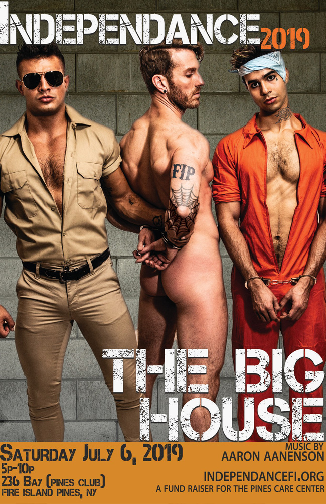 Independance jail themed party at Fire Island