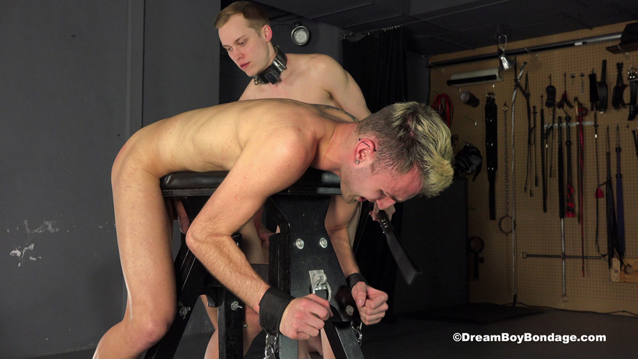 Video: Daddy Kevin orders more bondage action for his two captives