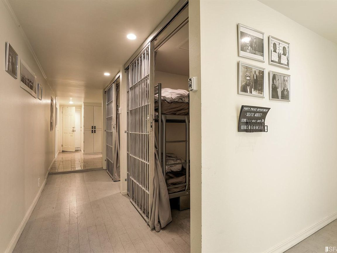 house with jail cells in basement