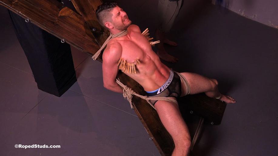 male bdsm Bondage stud Connor Halsted