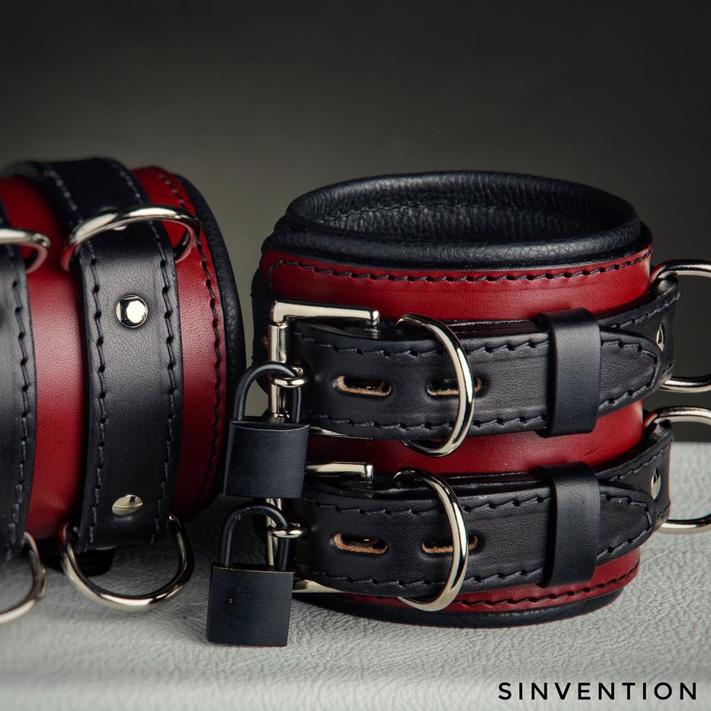 leather bondage cuffs