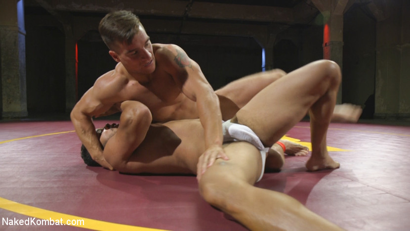 Naked muscle wrestling where the loser gets fucked