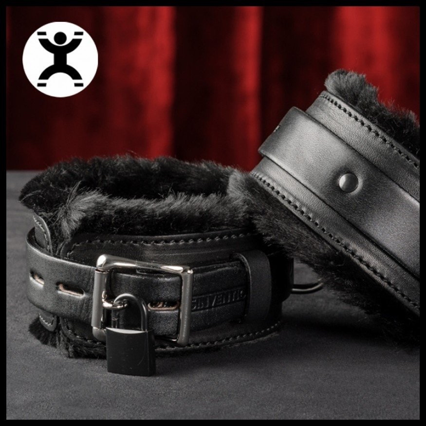 fur-lined leather cuffs
