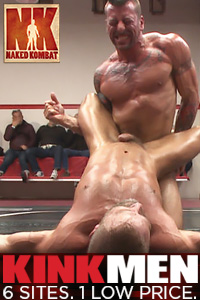 kink male bondage wrestle