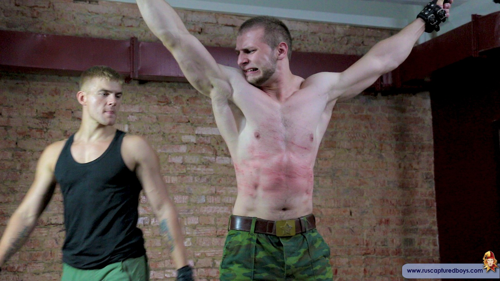 Sergeant Valentine experiences pain endurance