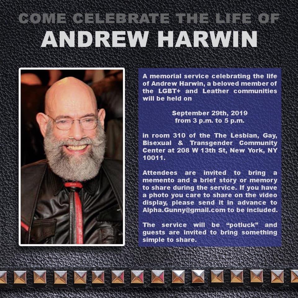 Andrew Harwin memorial