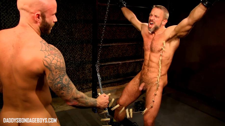 male bondage Drake Jaden tortures Dirk Caber