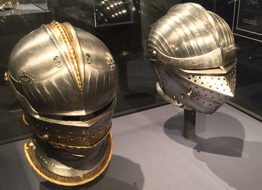 suit of armor helmets
