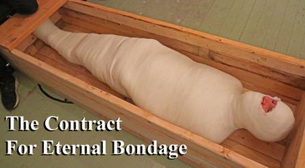 mummified in bondage
