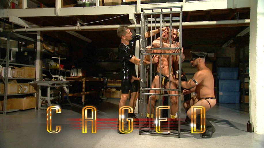 Male BDSM porn: Caged