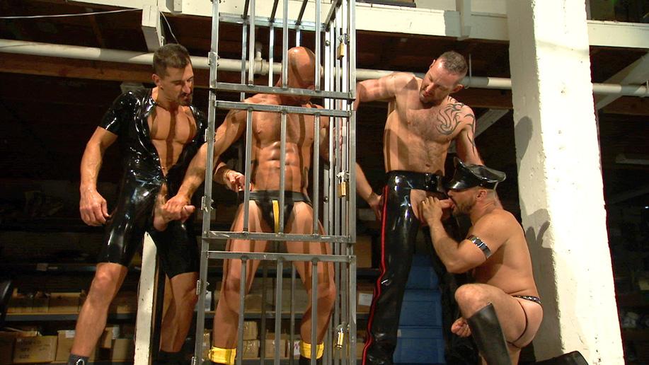 male bondage cages porn