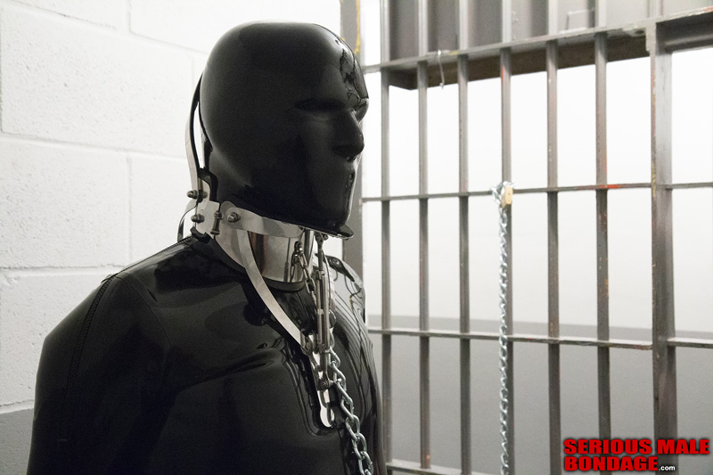 male rubber bondage gimp