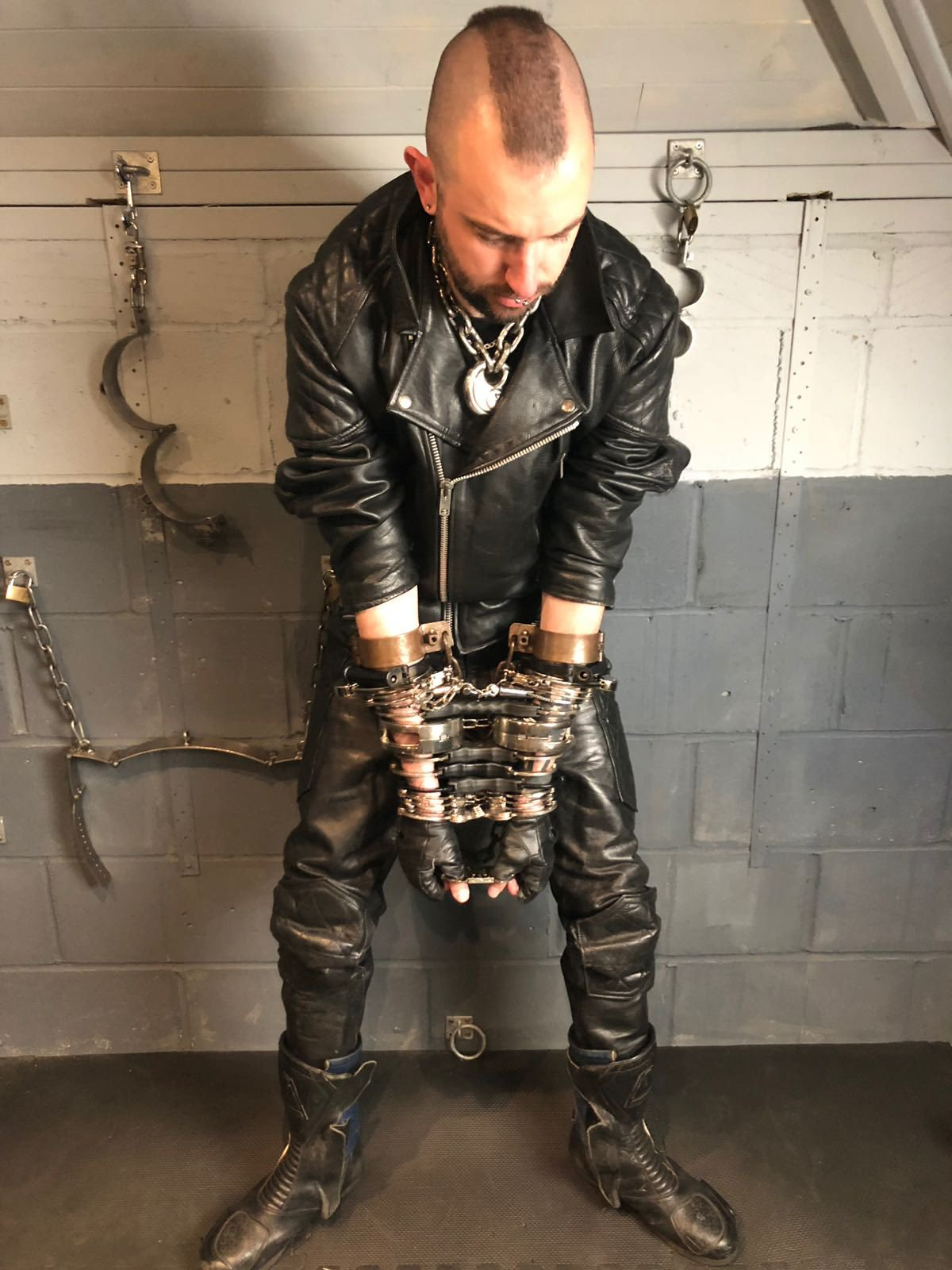 male bondage with handcuffs