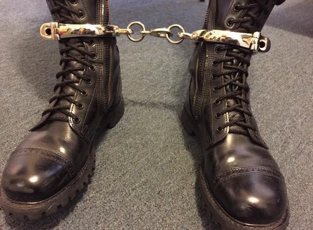 metal leg irons self bondage