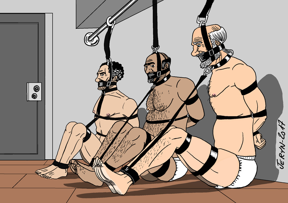 male BDSM work by the artist Jeryn