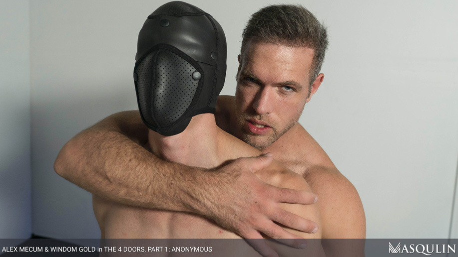 A hooded bottom gets fucked anonymously by Alex Mecum