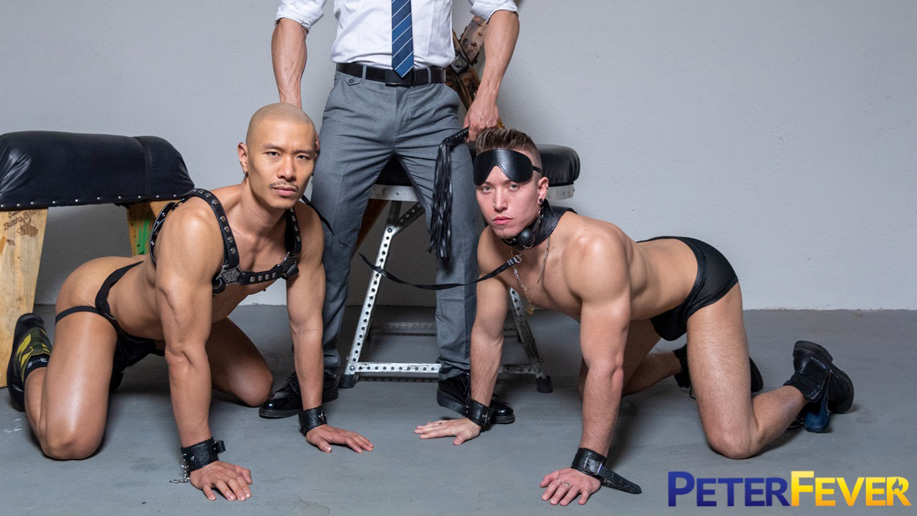 Check out Caged Jock in 'Suit and Tied: Submission'