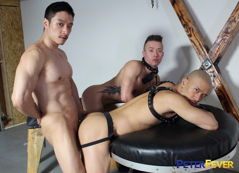 Caged Jock in bdsm porn