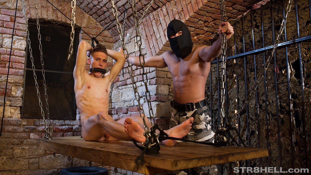 Gagged and shackled in the dungeon