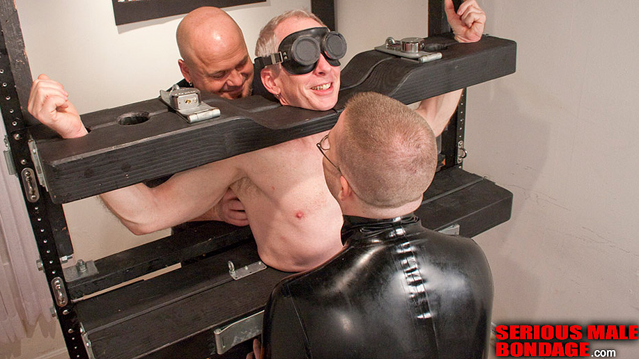 Serious Male Bondage gives Jamie plenty to smile about