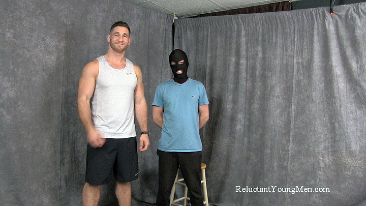 A dominant straight guy administers over-the-knee discipline