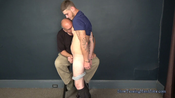 handcuffed man jacking off