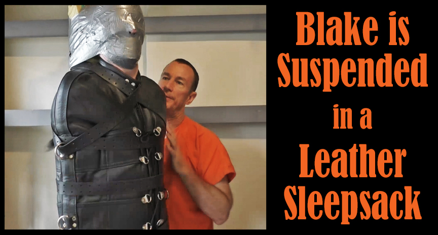 Suspended in a leather sleepsack