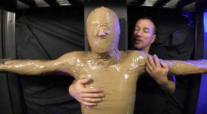 Boy Blake gets mummified by TapedAndTortured